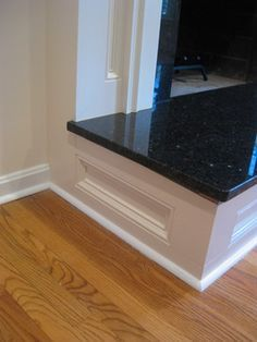 Custom Fireplace Surround. Hearth re-do. Definitely one of the photos that inspired our fireplace remodel.