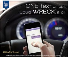 Taking 5 seconds off the road while driving can cause you your lifetime. Don't use the mobile phone while driving.#WhyPachtaye #libertyvideocon