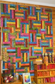 POPSICLE STICKS QUILT PATTERN-Pieced Quilts-Patterns | Quilting ... : popsicle sticks quilt pattern - Adamdwight.com