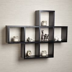 Features: -Unit includes 7 storage cubbies. -All hardware included. -No visible hanging hardware. -Easy to clean laminate. -Material: MDF and laminate. -Shelf Weight Capacity: 6.0 lbs each. Har