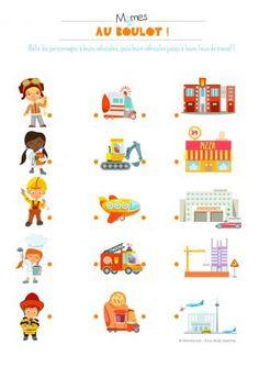 Occupations, Vehicles and Workplaces Preschool Body Theme, Preschool Jobs, Fall Preschool Activities, Toddler Learning Activities, Kids Learning, Activities For Kids, Community Helpers Worksheets, Community Helpers Preschool, Worksheets For Kids