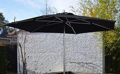 Sublimo 200 x 200 cm oder Rund 300 cm Ein trendiger quadratischer Sonnenschirm mit zeitgemäßer Ausstrahlung und Push up System Bespannung aus 210 gr/m O'Bravia, Scotchguard Beschichtet, Lichtechtheit 7-8/8 Mastdurchmesser 38 mm  www.solero-sonnenschirme.at