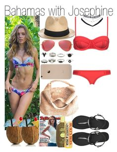"""""""Bahamas with Josephine"""" by kiksfashion ❤ liked on Polyvore featuring Wet Seal, Havaianas, Sensi Studio, Ray-Ban, Flora Bella, Sun Bum and Burt's Bees"""