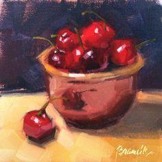 """""""Cherries Soufflé"""" - Original Fine Art for Sale - © Candace Brancik"""