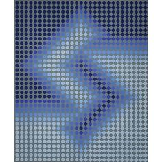 """Victor Vasarely (French/Hungarian, 1906-1997) """"Blue Composition,"""""""