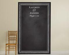 Personalized Chalkboard Backdrop - Beaded Frame