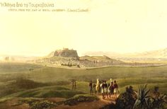 Edward Dodwell Views in Greece, Athens Mount Anchesmus