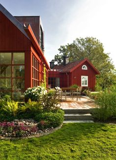 Diy Carport, Swedish Cottage, Sweden House, Red Houses, Scandinavian Home, Backyard, Patio, Fresco, My Dream Home