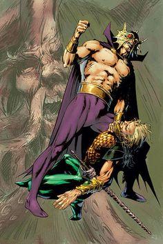Amazing Aquaman artwork Marvel Dc, Marvel Comics, King Shark, Dr Fate, Ocean Master, Comic Art, Comic Books, Black Manta, Comics