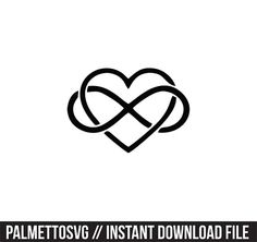 heart infinity Svg, Cricut Cut Files, Silhouette Cut Files  This listing is for an INSTANT DOWNLOAD. You can easily create your own projects. Can be