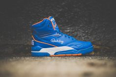 cd39cbbca32 Ewing Center Hi Retro - Blue White Orange - Sneaker Politics
