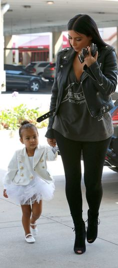 North West Completed Her All-White Dancing School Look With a White Tutu, Ballet Slippers, and a Sleek Bodysuit.