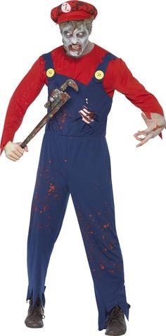 Costume zombie idraulico uomo Halloween. Costumi Di ... 582ff3880610