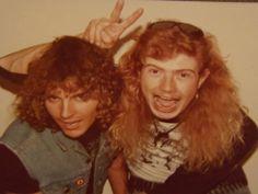 Ron McGovney & Dave Mustaine.
