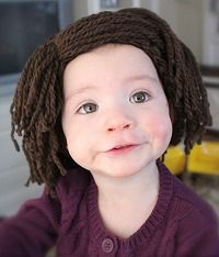 What a cute pattern for a hat, especially for those darling little ones with little or no hair to keep them warm.
