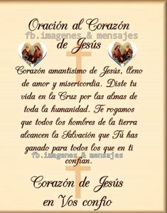 Spanish Prayers, Catholic Prayers, God Prayer, Religion, Lord, Prayers For Children, Christian Prayers, Religious Quotes, Short Prayers