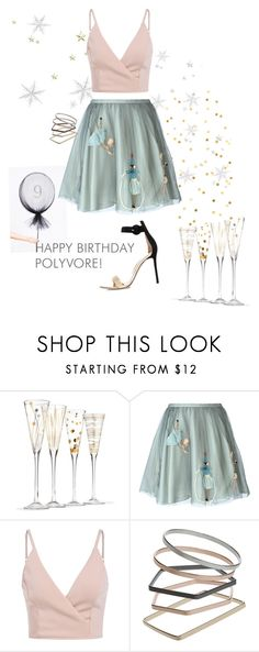 """""""Contest Entry: Happy Birthday, Polyvore!"""" by taz7568 ❤ liked on Polyvore featuring RED Valentino, Topshop, Gianvito Rossi, women's clothing, women, female, woman, misses, juniors and contestentry"""