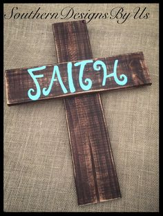 Wood pallet cross by SouthernDesignsByUs on Etsy