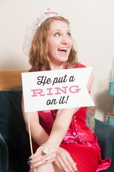 Bachelorette Party Photo Props by Liddabits Design Shop