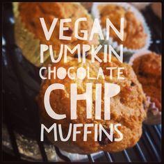 Yummy vegan pumpkin chocolate chip muffins :: How I Will Save His Life