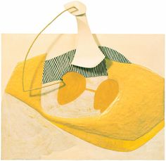 """Eva Hesse, """"H + H"""" (1965), gouache, varnish, ink, papier-maché, wood, cord, and metal on masonite, 26 5/8 x 27 1/2 x 5 1/8 in (image via hauserwirth.com)    ...strange beautiful and slightly subversive. from hesse's period between painting and full on sculpture."""