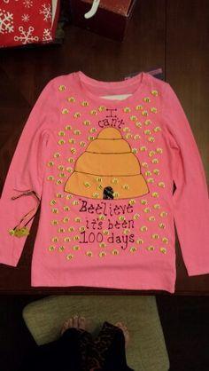 Bailey's 100 days of school shirt! Can't beelieve it's been 100 days 100 Day Project Ideas, 100 Day Shirt Ideas, 100 Day Of School Project, First Day Of School, School Projects, Kid Projects, 100th Day Of School Crafts, School Fun, School Ideas