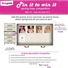 aa8a7f3634 A new Pinterest Campaign from Brayola. --- Win a Free bra.
