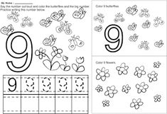 Printable Color By Number Coloring Pages Free Kindergarten Worksheets, 1st Grade Worksheets, Tracing Worksheets, Worksheets For Kids, File Folder Games, Writing Practice, Educational Activities, Elementary Schools, Coloring Pages