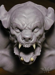 We have a brand new litter ready to go to new homes! These 1/3 scale busts are cast in translucent gray urethane resin, with separate fangs cast in specially tinted tooth-shade resin. All busts include a solid cast base. 10.5 inches tall (with base), assembly required, color may vary in person. *Starts shipping 2/13.