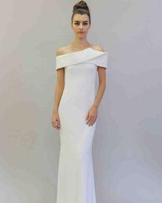 Austin Scarlett Fall 2017 Wedding Dress Collection   Martha Stewart Weddings – Off-the-shoulder mermaid wedding dress