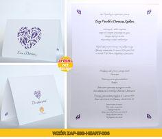 Zaproszenia na ślub duże serce odciski stóp