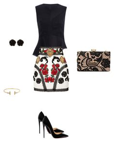 """""""Untitled #3448"""" by explorer-14576312872 ❤ liked on Polyvore featuring Dolce&Gabbana, Love Moschino, Christian Louboutin and Erica Lyons"""