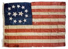 USA, flag  shows the designs over the years
