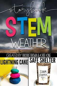Storybook STEM: Spotlight on Science Weather unit to accompany Thundercake by Patricia Polacco and Tornadoes! by Gail Gibbons | First Grade, Second Grade, Third Grade | Elementary STEM Challenges | NGSS