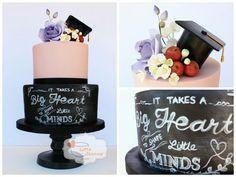 Cake with blackboard