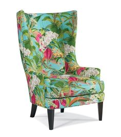 Just wing it.⠀ ⠀ DC24 Wing Chair⠀ Fabric: Orchids Teal⠀ Finish: Soho⠀ by @sherrill_furniture  #dsos #designstudioofsomerville #design #interior4all #finedesign #interiordesign #interiorstyling #lovedesign #homedecor #interiors #njinterior #customdesign #downtownsomerville #somervillenj #inspiration #interiordecor #interiordesigners #sherrill_furniture #wingchair #chair #tropical #flowers #customupholstered