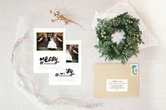 merry married :: holiday photo card by little bt heart #holidaycards #holiday #christmascards #justmarried #firstchristmas