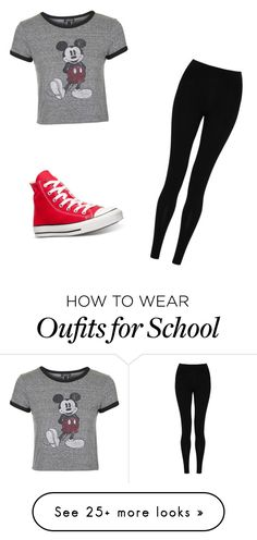 """""""school"""" by sinteriano25 on Polyvore featuring Topshop, M&S Collection, Converse, women's clothing, women's fashion, women, female, woman, misses and juniors"""