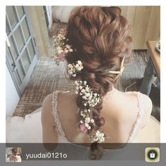 Beautiful hair with flower Bridal Hairdo, Hairdo Wedding, Wedding Hair Flowers, Bridal Hair And Makeup, Flowers In Hair, Dress Hairstyles, Bride Hairstyles, Wedding Images, Wedding Styles