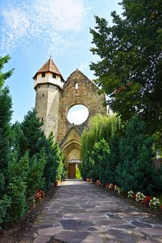 Tower and main entrance of the Former Cistercian Monastery of Cârța Lazy Summer Days, Medieval Fortress, Summer Palace, Main Entrance, Months In A Year, World Heritage Sites, Small Towns, Nice View, Old Town