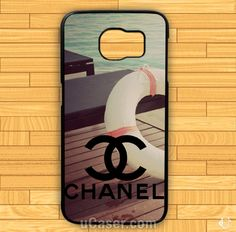 Chanel logo vintage Beach Samsung Cases