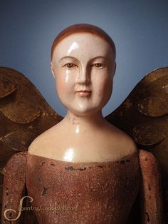 "Details about SANTOS Cage Doll ANGEL w/ wings 28"" folk art Saint"