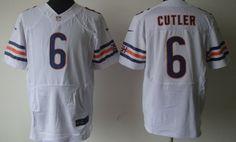 Nike Chicago Bears #6 Jay Cutler White Elite Jersey