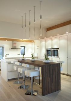 Contemporary kitchen in Cedar House in Norfolk (photo: Shoot Factory)