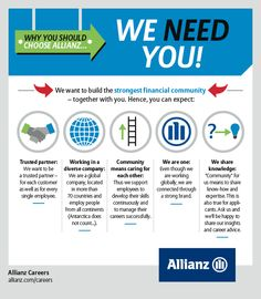 Why you should choose Allianz - We need you! #allianzlife