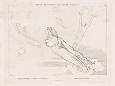 After John Flaxman 'Souls Returning to their Spheres', 1807