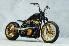 Black Beauty. Modified Harley-Davidson by Roland Sands Design.
