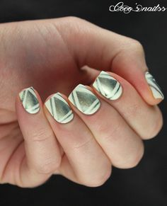 Nailpolis Museum of Nail Art   Triangle nail art by Cocosnailss