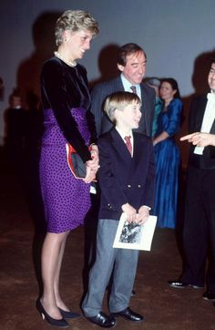 Diana Princess Of Wales Patron London Symphony Orchestra Attending A Christmas Music Concert At The Barbican Centre With Her Son Prince William