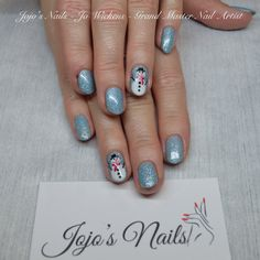 CND Shellac manicure with hand painted nail art - By Jo Wickens @ Jojo's Nails - www.jojosnails.com